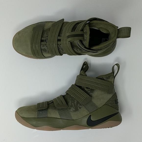 8619aaf96cb Nike LeBron Soldier XI SFG Olive Camo Mens Size 8